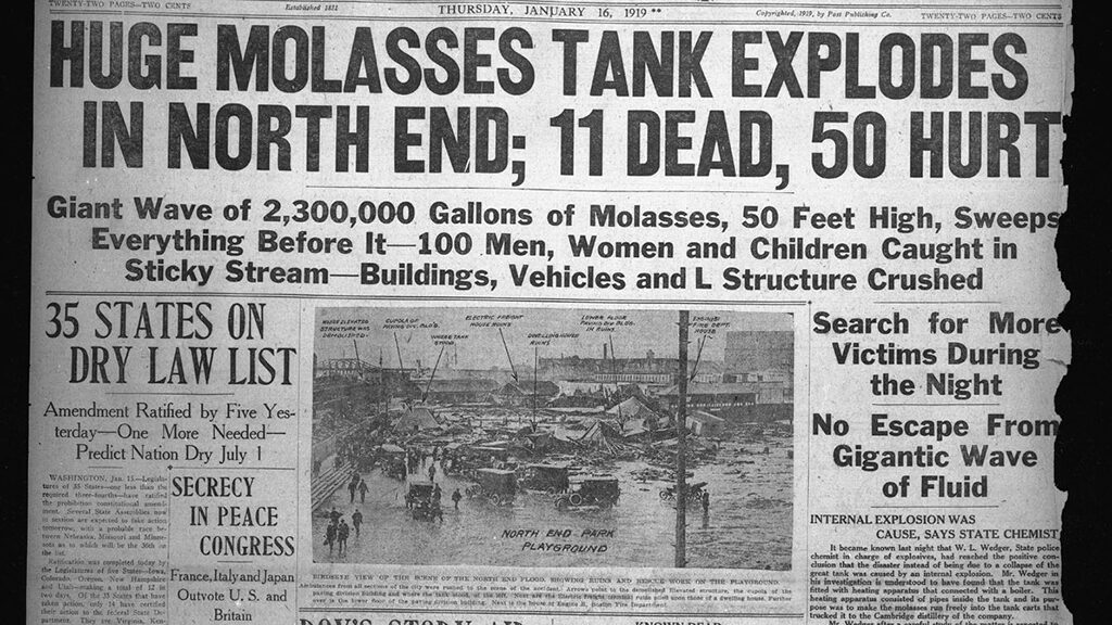 Tsunami of Molasses Destroys Boston's North End