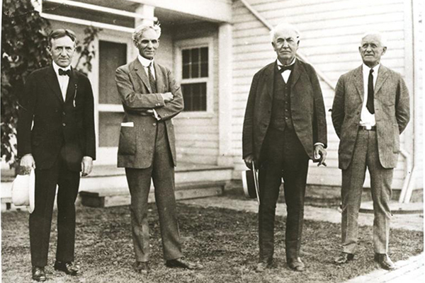 Harvey Firestone, Henry Ford, Thomas Edison, And Edward Kingsford camping trip