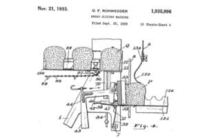 Rohwedder Bread Slcing Machine Patent Drawing